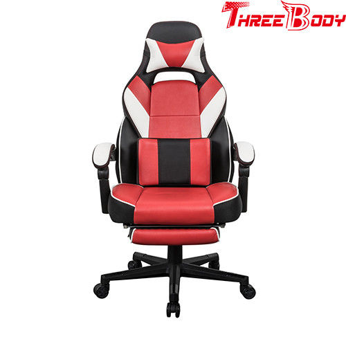 Custom Reclining Gaming Chair With Wheels , Big And Tall Gaming Chair Adjustable Armrest
