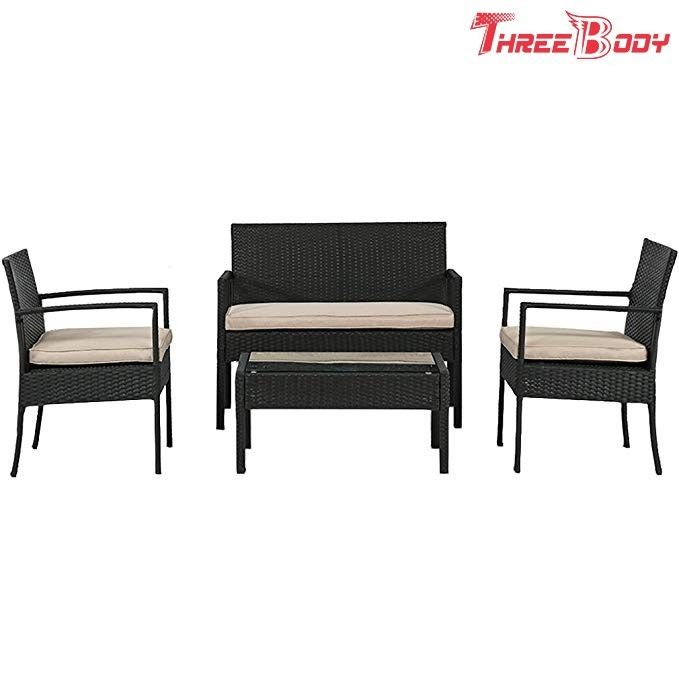 Wicker Outdoor Garden Furniture Rattan Patio Table And Chairs With Cushions