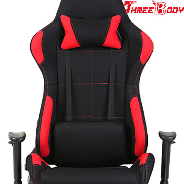Custom Gaming Chair Under 100 , Red And Black Comfortable Office Chair For Gaming