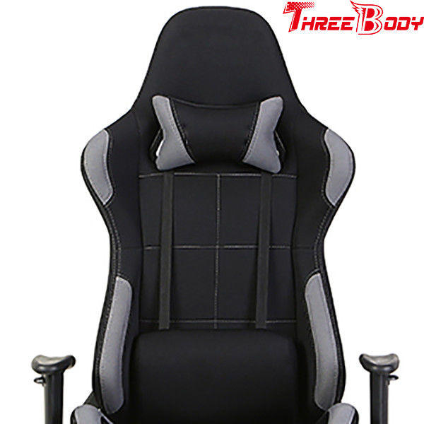 Breathable High Back Gaming Chair With Footrest 180 Degrees Adjustable Seat 83.5 * 65 * 32cm