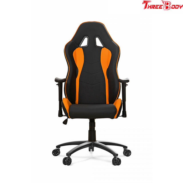 Ergonomic Pc World Gaming Chair , Black And Orange Racing ...