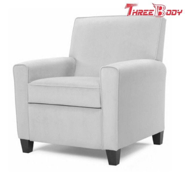 GreyLounge Hotel Bedroom Chairs , High Density Foam Fabric Single Arm Chair