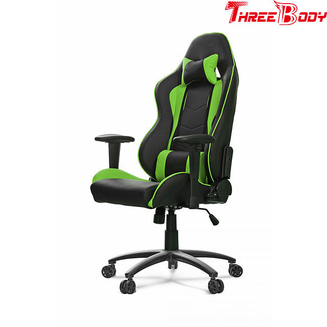 Mobile Green And Black Gaming Chair , PU Leather Racing Seat Desk Chair