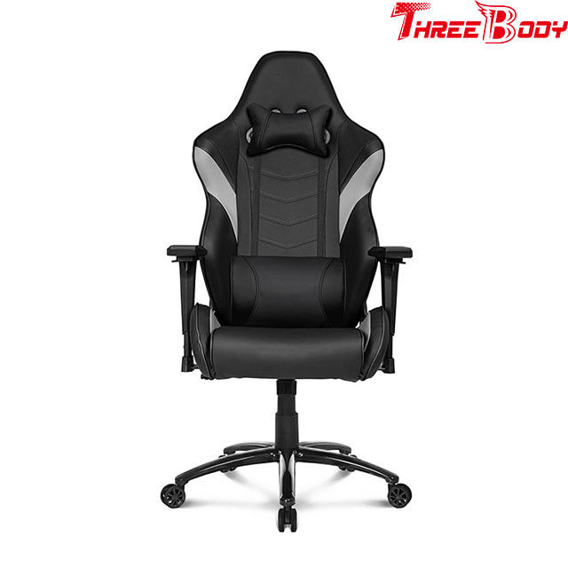 Ordinaire Black And Gray Leather Gaming Chair 360 Degree Swivel Rotation Fire    Retardant
