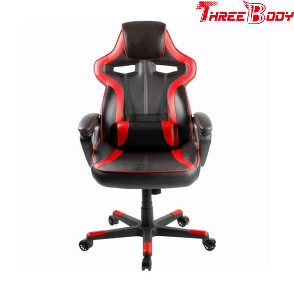 High Density Foam Red And Black Gaming Chair , Durable Racing Seat Office Chair