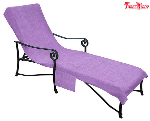 Purple Pool Outdoor Furniture Chaise Lounge , Ergonomic Design  Outside Lounge Chairs