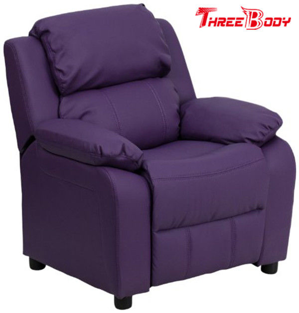 Comfortable Childrens Recliner Chair Purple Vinyl Toddler Recliner