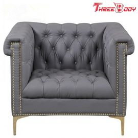 Custom Office Lobby Modern Hotel Furniture Leather Cover Sofa Leisure Chair