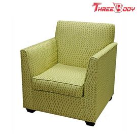 Single Fabric Modern Lobby Chairs , Comfortable Hotel Balcony Accent Arm Chair