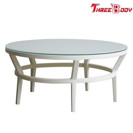 China Fashion Modern Round Outdoor Coffee Table , Backyard Outdoor Patio Coffee Table factory