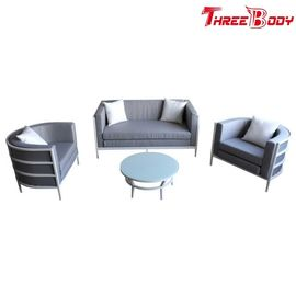China Leisure Outdoor Aluminum Garden Furniture Sofa , Hotel Garden Table And Chairs Set factory