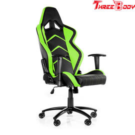 China 360 Degree Gaming Chair Durable , Black And Green Racing Seat Gaming Chair factory