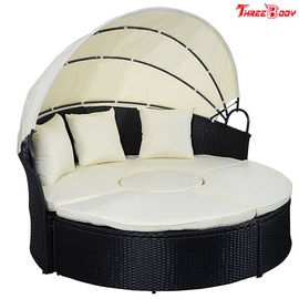 China Round / Curved Outdoor Sofa , Comfortable Contemporary Outdoor Furniture Lounge Sofa factory