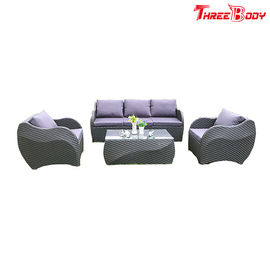 China Garden Outdoor Lounge FurnitureRattan Sofa , Modern Outdoor Furniture UV Protection factory