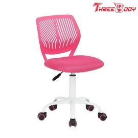 Breathal Mesh Pink Kids Desk Chair , Swivel Girls Kids Study Chair For Students