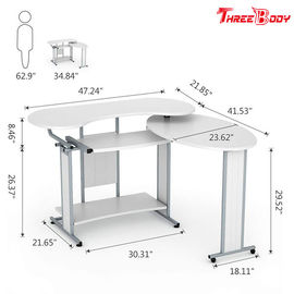 L Shaped Modern Home Office Desk , Simple Small Desktop Computer Desk