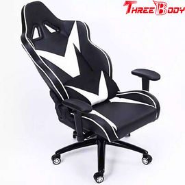 China Black And White High Back Gaming Chair , Light Weight Ergonomic Gaming Chair factory