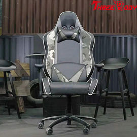 Racing Gaming High Back Gaming Chair With Adjustable Neckrest And Lumbar Support