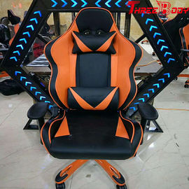 Portable Racing Gaming Chair High Density Foam Height Adjustable For Lumbar Protection