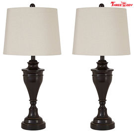 Bronze Finish Modern Table Lamps , Nightstand Contemporary Side Table Lamps