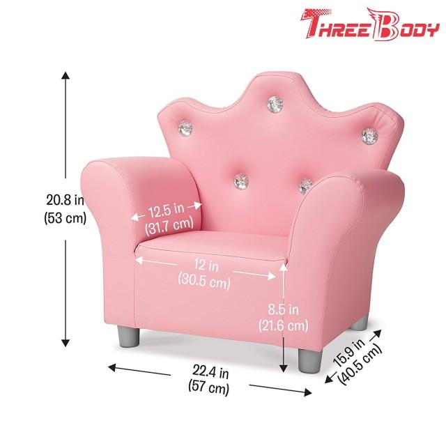 Excellent Comfy Modern Kids Furniture Child S Crown Armchair Pink Pu Ibusinesslaw Wood Chair Design Ideas Ibusinesslaworg