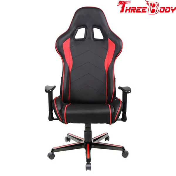 High Back Computer Seat Gaming Chair PU Leather Height Adjustable 350lbs Loading Capacity